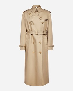 Gabardine cotton double-breasted trench coat