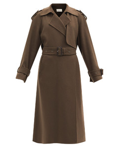 Yeli felted cashmere-blend trench coat