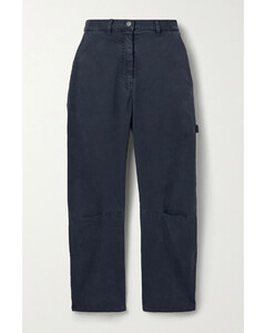 Tie-dyed shell cargo trousers