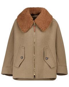 羊毛皮羊毛混纺夹克
