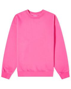 Navy polka-dot pleated silk midi skirt