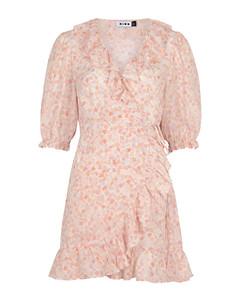 Nina printed silk-chiffon wrap dress