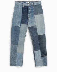 '70 patchwork cropped jeans