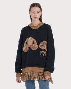 Bear Fringed Sweater