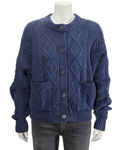 Polo Ralph Lauren Ladies Navy Boxy Long-sleeve Sweater