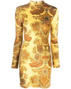 黑色&銀色高領連衣裙