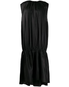 缩褶长款连衣裙