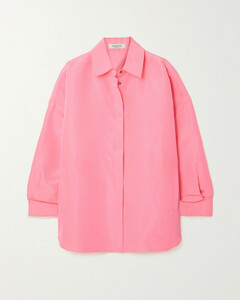 Oversized Neon Silk Shirt