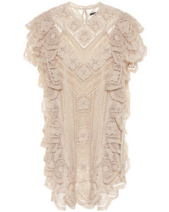 Zanetti crocheted cotton minidress