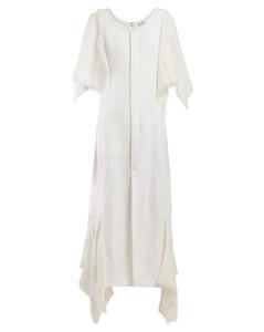 Handkerchief-sleeve cotton midi dress