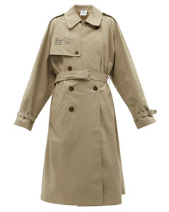 Human Identity belted cotton-blend trench coat