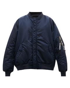 Reversible oversized padded bomber jacket