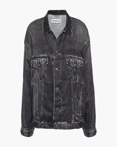 Woman Oversized Denim-effect Twill Jacket