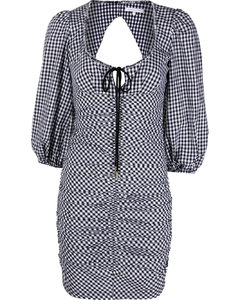 Quilted down jacket in black