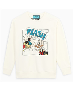 White/multicolour Donald Duck Disney x Gucci sweatshirt