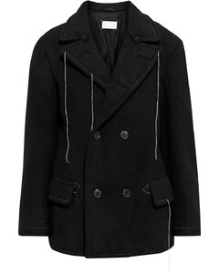 Woman Double-breasted Brushed Wool Coat