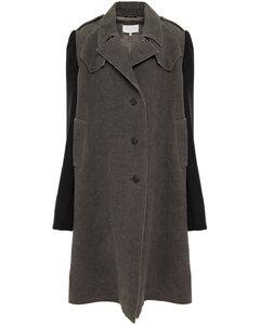 Woman Herringbone Linen And Cotton-blend Coat