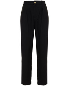 Woman Pleated Twill Tapered Pants