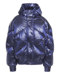 Woman Dunlope Quilted Shell Hooded Jacket