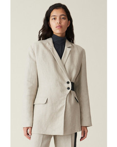 Linen Wrap Style Blazer