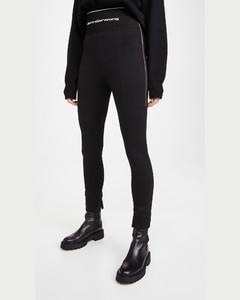 明拉链贴腿裤