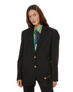 Fancy wool and viscose-blend sweater