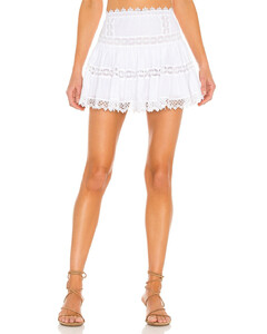 Blue twist-effect knitted top