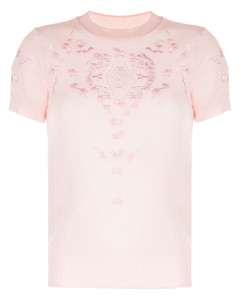 Branded padded wool and shell-down cape
