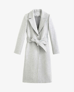 Generalter single-breasted wool-blend coat