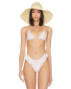 crinkled A-line midi skirt