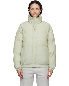 绿色填充夹克