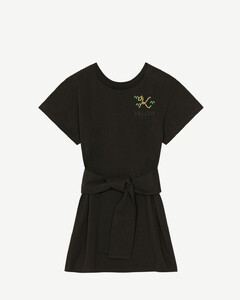 Woman Belted Sateen Straight-leg Pants