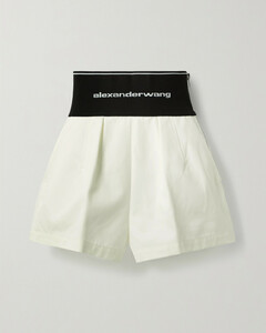 Safari Cotton-blend Twill And Stretch-jacquard Shorts