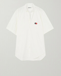 Oversized Embroidered Cotton-poplin Shirt