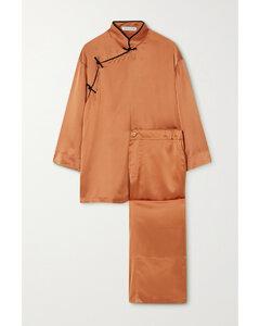 Harlow Silk-satin Pajama Set