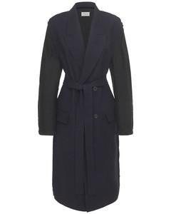 Wool Gabardine Double Breast Trench Coat