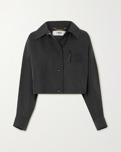 Cropped Twill Jacket
