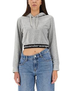 Nappa leather and denim basque jacket