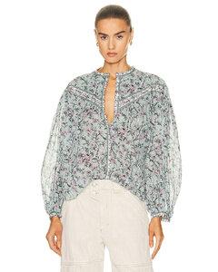 Cream logo-embroidered cotton shirt