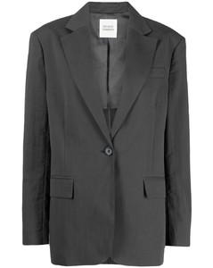 人字纹针织V领罩衫