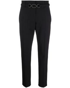 刺绣亚麻混纺长罩衫裙