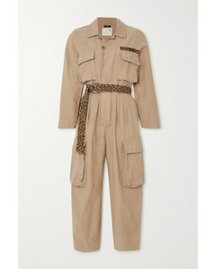Abu Belted Cotton-canvas Jumpsuit