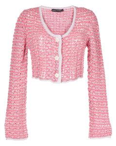 White panelled cotton-poplin top