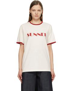 白色徽标T恤