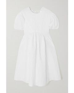 Beatrice Tie-back Cotton-blend CloquéMini Dress