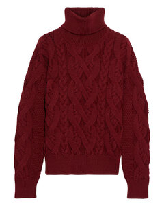 Woman Wooster Cable-knit Merino Wool Turtleneck Sweater