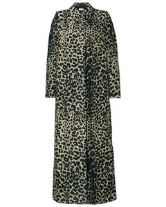 Woman Leopard-print Shell Trench Coat