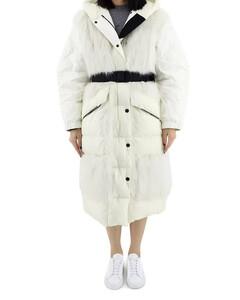 Ladies White Sarina Long Fur Coat