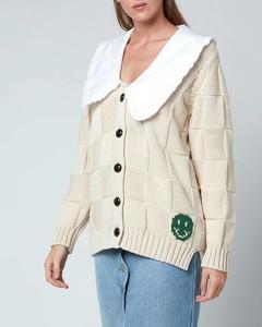 Women's Cotton Rope Knitted Cardigan - Brazillian Sand