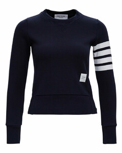 Blue Jersey Sweatshirt with 4Bar Detail